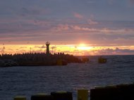 zachód Słońca w Kołobrzegu
