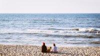 Kamienista plaża nad Bałtykiem